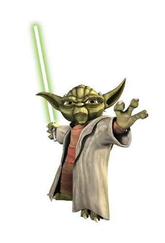(Star Wars Movie - The Clone Wars - Yoda Jedi Master Giant Wall Decal Sticker )