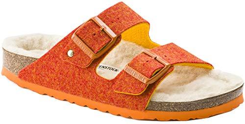 Birkenstock Unisex Arizona Wool Felt Sandal, Orange, Size 42 N EU (11-11.5 N US Women)