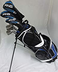 Complete set of all the best Ping Golf clubs. Set features Ping i3 O-Size Irons 3,4,5,6,7,8,9,PW all with Ping Stiff Flex Steel Shafts. Ping i15 Ti Driver, Ping i15 3 Wood, and Ping G5 19 Degree Hybrid (All with Graphite Stiff Flex Shafts for...