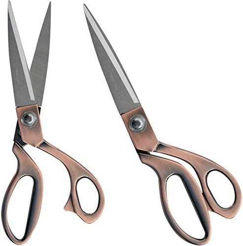 "9.5/"" STAINLESS STEEL TAILORING SCISSORS COPPER HANDLE DRESS MAKING FABRIC SHEARS"