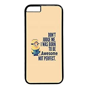 Minion Born To Be Awesome Protective Hard Plastic Back Fits Cover Case for iphone 6 4.7(inch)-1122001