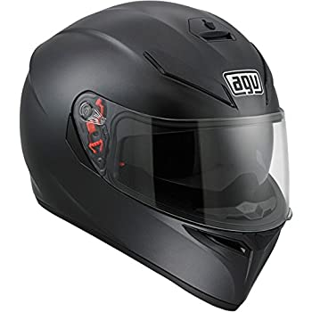 AGV 0101-7486 K-3 SV Motorcycle Helmet (Matte Black, Large)