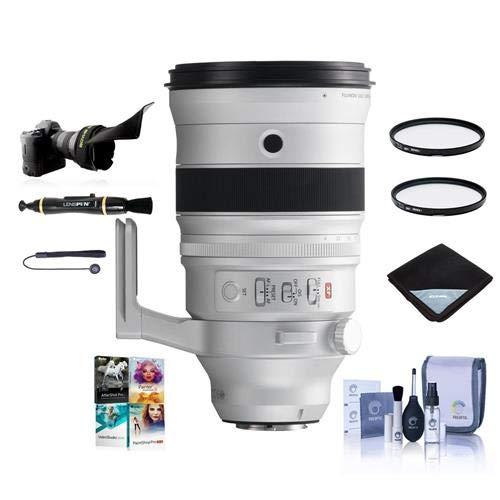 Fujifilm XF 200mm f|2 R LM OIS WR Lens with XF 1.4X TC F2 WR Teleconverter Kit - Bundle with 105mm UV|CPL Filters, Flex Lens Shade, Lens Wrap, Cleaning Kit, Capleash, Lenspen Cleaner, PC Software