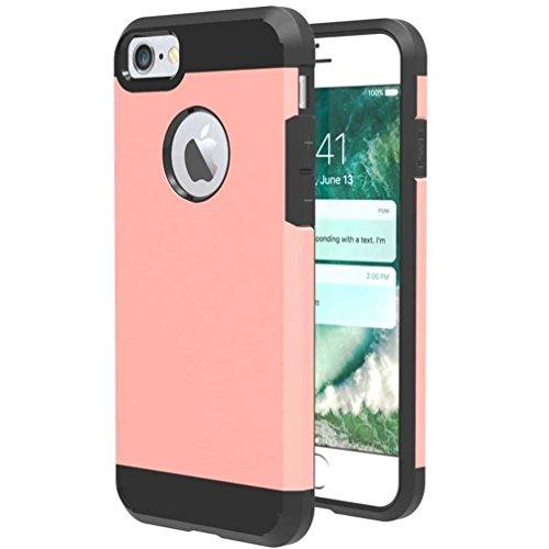 """4.7"""" iPhone 7 Coque, AOFad Case 2 à 1 Protection des lourds Mince Rose Gold Plastique Armure Accessoires Série Pour Femme Homme L155"""
