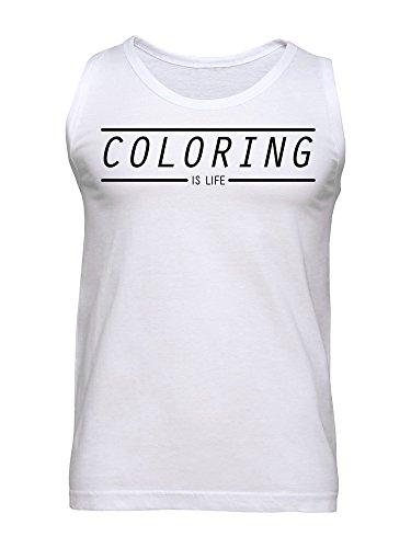 Coloring Is Life Men's Tank Top