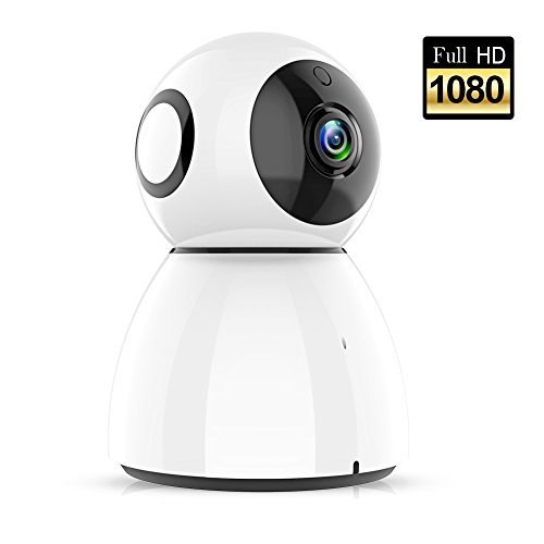 Wireless Security Camera, Sywan 1080P HD WiFi Camera Support Cloud Storage Baby Monitor Home Surveillance Camera with Motion Sounds Detection Two-Way Audio Night Vision,White by Sywan