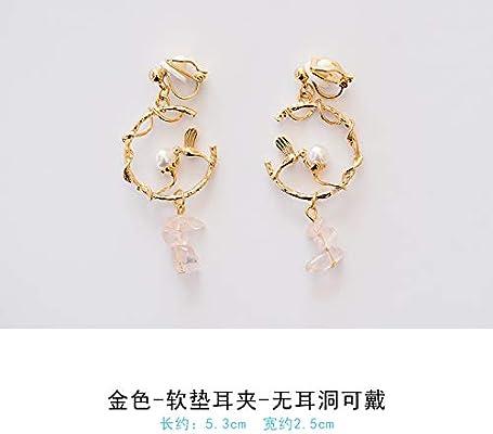VVSBAOZI Crystal Pendientes Pendientes Sen japoneses de Corea sin ...