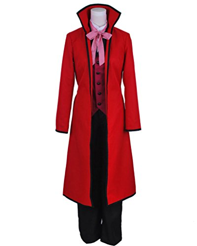 Shinigami Halloween Costume (Fancy Style FancyStyle Black Butler Cosplay Shinigami Grell Sutcliff Costume Red Female L)