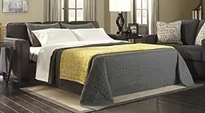 Signature Design by Ashley Alenya Sleeper Sofa, Queen, Charcoal