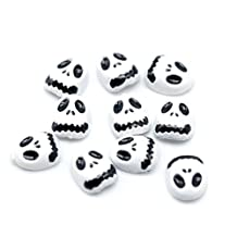 So Beauty 10 pcs Cool Skull Alloy 3D Nail Art Slice DIY Decoration White and Black