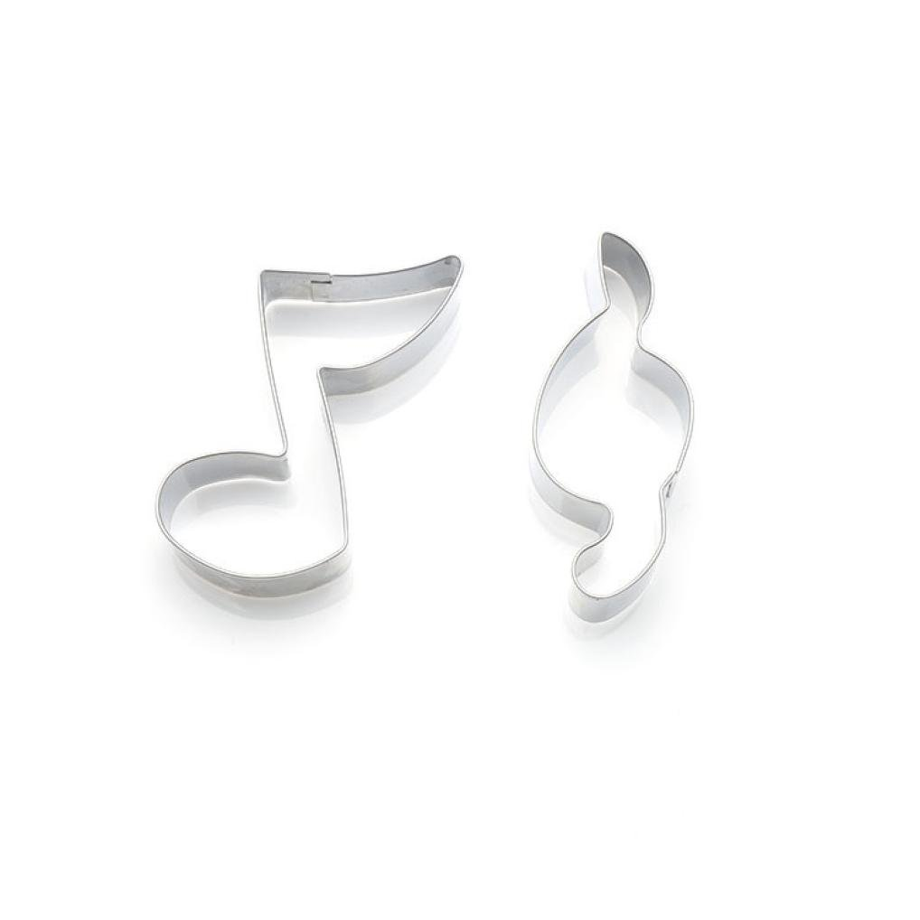 Molyveva 2Pcs Cookie Cutter with Musical Note Shape, Sandwich Cutters Cake Cutters for Homemade Treats Donuts Muffins & Fondants Biscuit