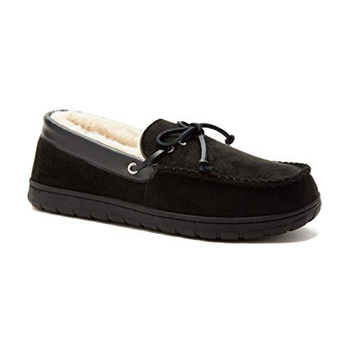 Pantofola Forestay Da Uomo Microsuede Nautica, Interno In Pelliccia Di Mocassino, Fondo In Gomma, Interno Confortevole E Caldo Slip On Black1