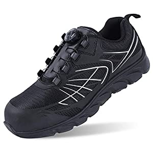 Arkeen Steel Toe Shoes for Men,Work Safety Shoes Lightweight Industrial Construction Outdoor Hiking Shoes