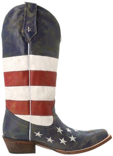 Bota De La Bandera Americana De Roper Mujeres Red / White / Blue
