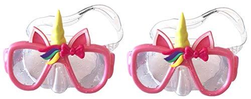 (LIFEGUARD Unicorn Pink Swim Mask Goggles for Girls Ages 3+ Set of 2)