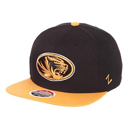 (ZHATS NCAA Missouri Tigers Men's Z11 Invert Snapback Hat, Adjustable, Black)