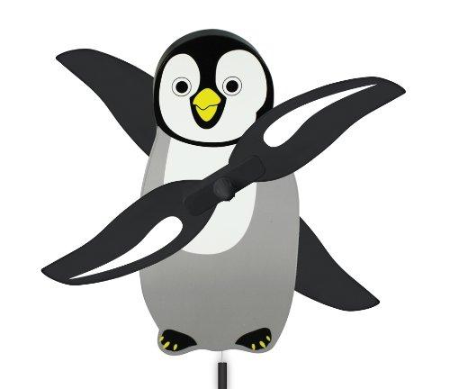 (WindNSun WhirlyGig Outdoor Animated Decor, Penguin)