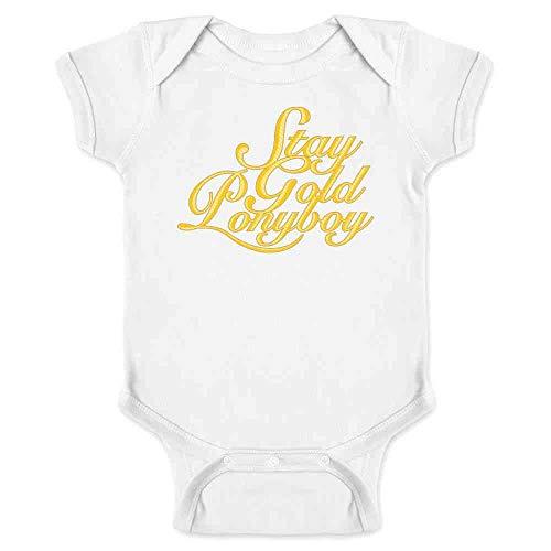 Pop Threads Stay Gold Ponyboy White 6M Infant Bodysuit -
