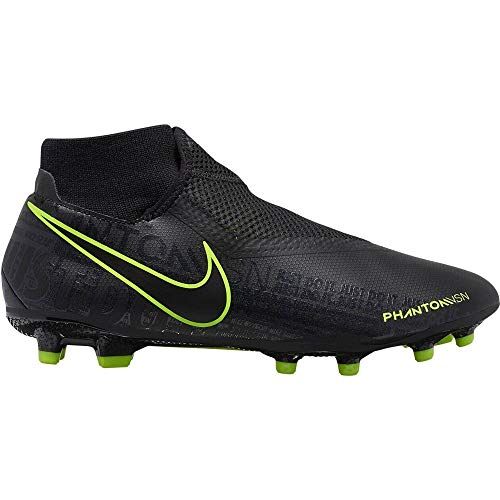 Nike Phantom Vision Academy Dynamic Fit MG Multi-Ground Soccer Cleat (7.5, Black)