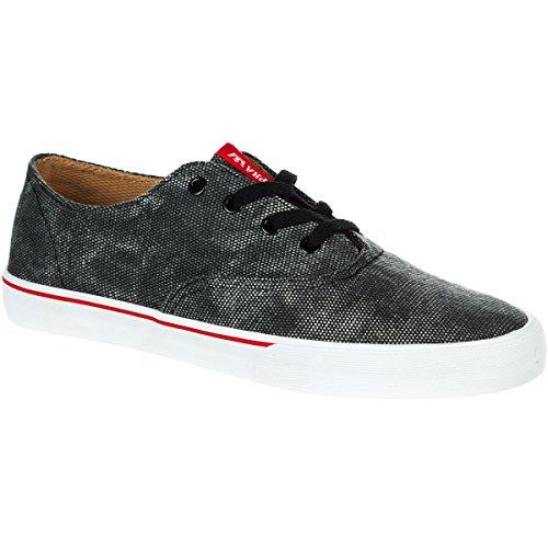 Supra WRAP S05026 - Zapatillas de lona para hombre Black/Red/White