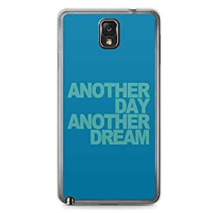 Another Day Another Dream Samsung Note 3 Transparent Edge Case