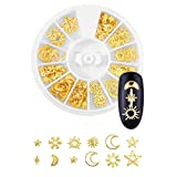 Nail Art Studs 6 Boxes Gold Nail Applique Decals