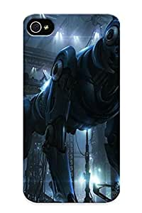 Fireingrass Perfect Tpu Case For Iphone 4/4s/ Anti-scratch Protector Case (giant Dog Robot )