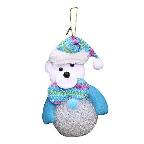 (Hot Sales!! Merry Christmas Decoration, ZOMUSAR Christmas Stylish Decoration Glow Lamp Snow Small Light Crystal Snowman (C))