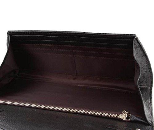 Señora Moda Embrague Embrague Invierno Nuevo Mano Bolso De Noche Patrón De Cocodrilo Embrague Black