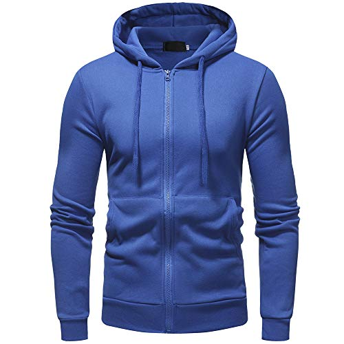 Hoodie Sweatshirt Long Sleeve,ZYAP Mens Winter Hoodie Outwear Tops (Blue,2XL) ()