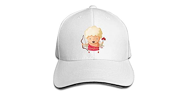 Unisex Sandwich Peaked Cap Cupid Heart Love Art Adjustable Cotton Baseball Caps