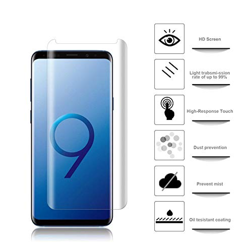 [2pack] for Samsung Galaxy S9 Tempered Glass Screen Protector, Eastoan S9 Screen Protectors [9H Hardness] [Super Clear] [ No Foam ][NO Scratch] Compatible Samsung Galaxy S9 Clear by Eastoan (Image #4)