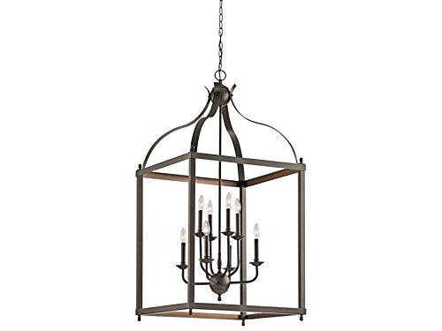 Kichler 42591OZ Larkin 8-Light Chandelier in Olde (Bronze Large Lantern Pendant)