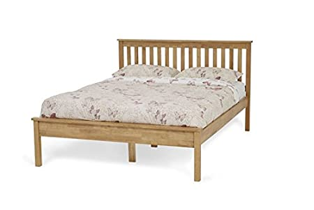 854d1a1a1da5 Image Unavailable. Image not available for. Colour: Heather Shaker Style 4ft  Small Double Beadstead Bed Frame Honey Oak ...