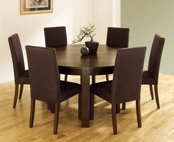Lyon Walnut Round Dining Table Amazoncouk Kitchen Home