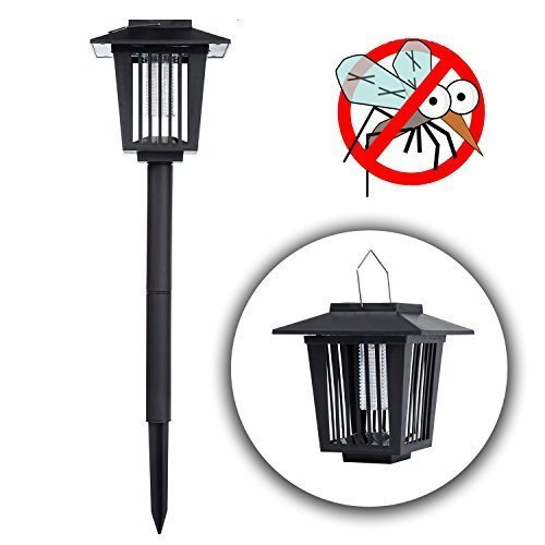 Bug Zapper,Solar Powered Bug Zapper Light, Mosquito Trap Indoor Mosquito Killer Insect Trap Enhanced Outdoor Flying Insect Killer & Bug Zapper by ZBLX