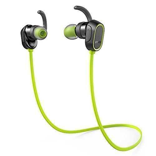 Anker SoundBuds Sport Ohrhörer Wireless Bluetooth Halsband Kopfhörer mit 8-Stunden-Spielzeit, IPX4-klassifiziert spritzwasserfest ideal für Joggen, Workout, Fitness, Headphones mit Mikrofon für iPhone, Android & Weitere (Grün)