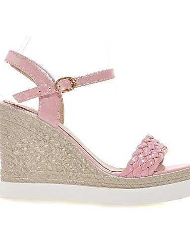 ShangYi Womens Shoes Leatherette Wedge Heel Wedges Sandals Casual Pink / Purple / White / Gold White