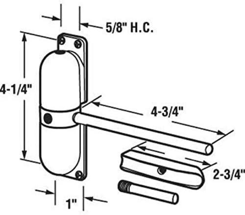 WATERMELON 20-70KG Zink-Legierung T/ürschlie/ßer Automatische Mounted T/ürstopper Einstellbare Oberfl/äche T/ürschlie/ßer