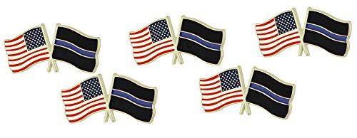 Blue Usa Pin - Thin Blue Line USA Flags Pin (10 Pins)