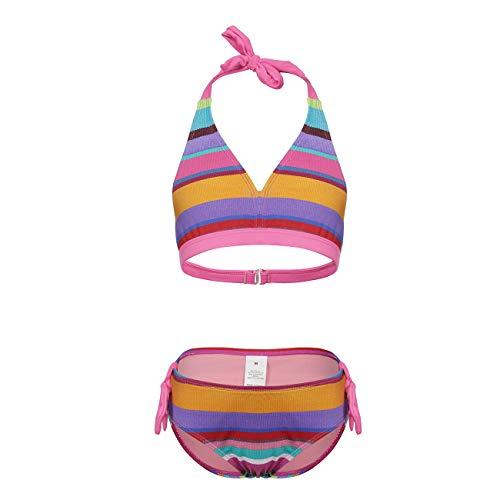 DAYU Bikinis for Girls 2 Piece Bathing Suit Stripes Swimsuit 7-8