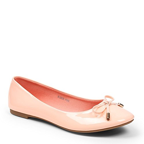 Ideal Shoes – Ballerinas, Lackschuhe, in Farbe, Tahani Rose