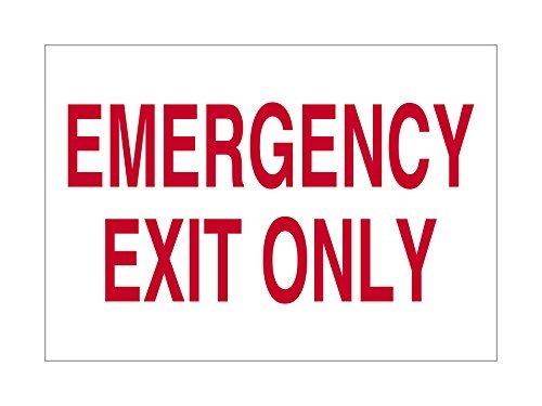 Salida de emergencia sólo chapa blanco rojo divertido cartel ...