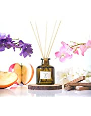 PRISTINE Inspired by Marriott Hotel Reed Diffuser | Reed Oil Diffuser, 50ml | Scented Diffuser with notes Apple, Grapefruit, Sandalwood | Oil Diffuser with Black Fiber Sticks | Home Fragrance Products