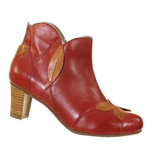 Spring Step LArtiste Patisserie Red/Camel Womens Display Model Ankle Boots 37 (US: 6.5-7) xgkGWuloe