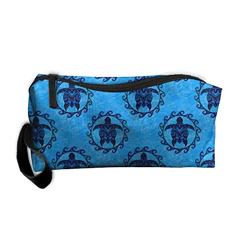 King Fong Sea Turtle Makeup Bag for Men/Women, Travel Toiletry Bag, Oxford Pencil Case