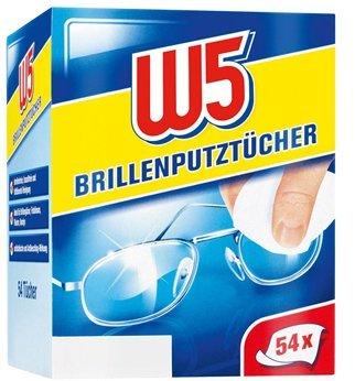 Un paquete con 54 toallitas limpiadoras de lentes / gafas