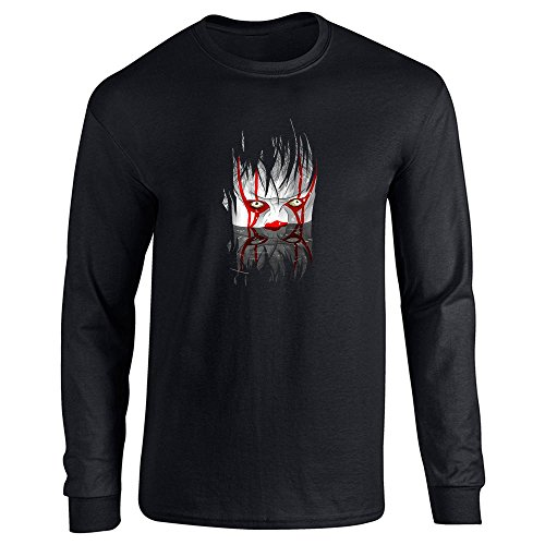 You'll Float Too Horror Clown Halloween Scary Black M Long Sleeve T-Shirt for $<!--$11.50-->