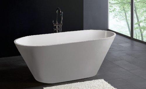 Portico Bath (Modern Bathtub - Soaking Bathtub - Freestanding Bathtub - Solid Surface Bathtub - Cast Stone Bathtub - Portico 70.9