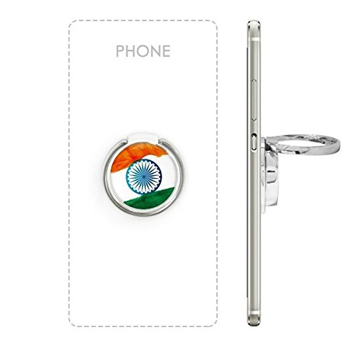 Price comparison product image India Flavor National Flag and Holy Wheel Watercolor Illustration Metal Rotation Ring Stand Holder Bracket for Smartphones Cell Phone Support Accessories